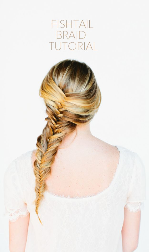 Easy Braids With Tutorials - Cute Fishtail Braid - Cute Braiding Tutorials for Teens, Girls and Women - Easy Step by Step Braid Ideas - Quick Hairstyles for School - Creative Braids for Teenagers - Tutorial and Instructions for Hair Braiding http://diyprojectsforteens.com/easy-braids-tutorials
