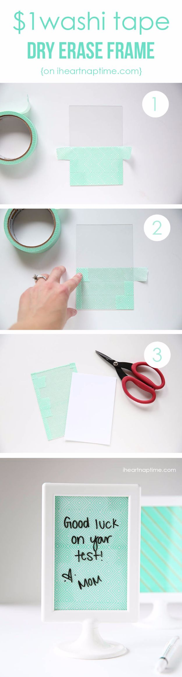 DIY School Supplies - DIY Erase Frame - Easy Crafts and Do It Yourself Ideas for Back To School - Pencils, Notebooks, Backpacks and Fun Gear for Going Back To Class - Creative DIY Projects for Cheap School Supplies - Cute Crafts for Teens and Kids http://diyprojectsforteens.com/diy-back-to-school-supplies