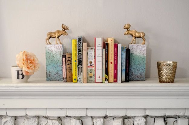 DIY School Supplies - DIY Gold Animal Bookends - Easy Crafts and Do It Yourself Ideas for Back To School - Pencils, Notebooks, Backpacks and Fun Gear for Going Back To Class - Creative DIY Projects for Cheap School Supplies - Cute Crafts for Teens and Kids http://diyprojectsforteens.com/diy-back-to-school-supplies