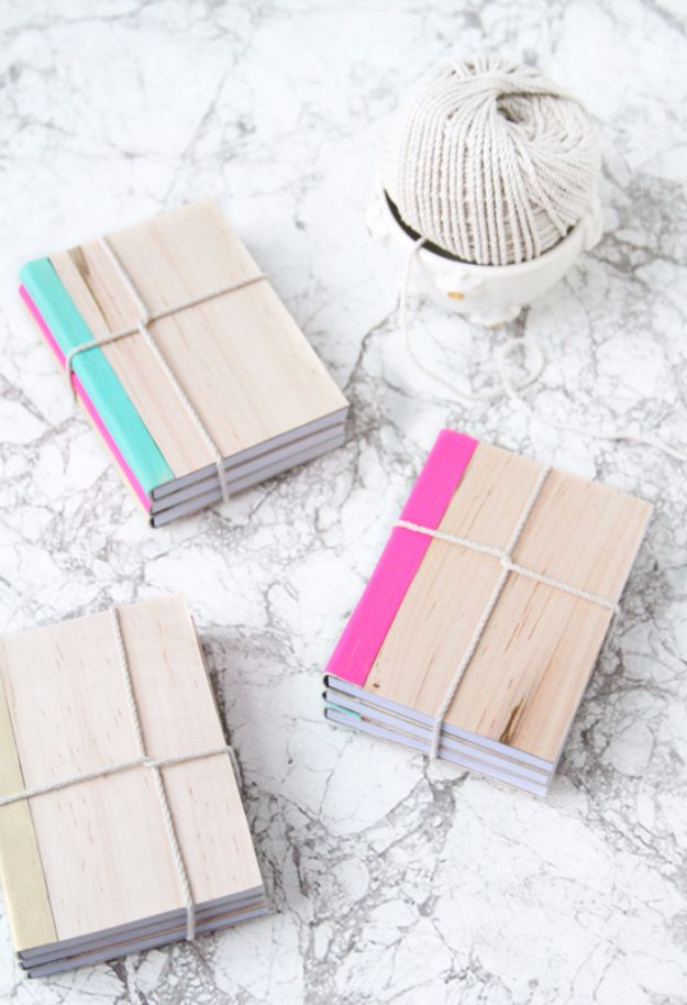 DIY School Supplies - DIY Leather And Wood Covered Notebook - Easy Crafts and Do It Yourself Ideas for Back To School - Pencils, Notebooks, Backpacks and Fun Gear for Going Back To Class - Creative DIY Projects for Cheap School Supplies - Cute Crafts for Teens and Kids http://diyprojectsforteens.com/diy-back-to-school-supplies