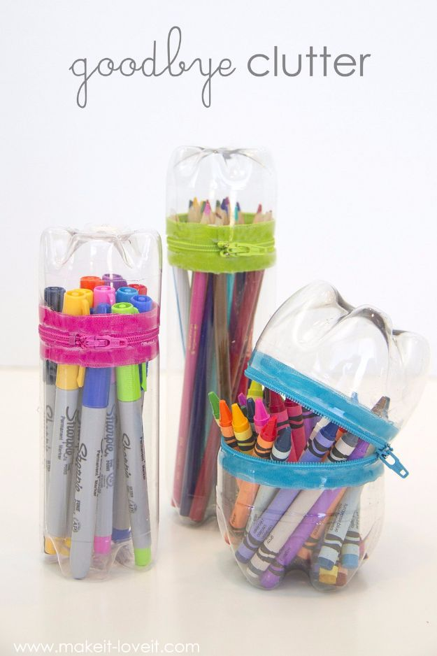DIY School Supplies - DIY No-Sew Zipper Cases - Easy Crafts and Do It Yourself Ideas for Back To School - Pencils, Notebooks, Backpacks and Fun Gear for Going Back To Class - Creative DIY Projects for Cheap School Supplies - Cute Crafts for Teens and Kids #backtoschool #teencrafts #kidscrafts #teen #diyideas #crafts
