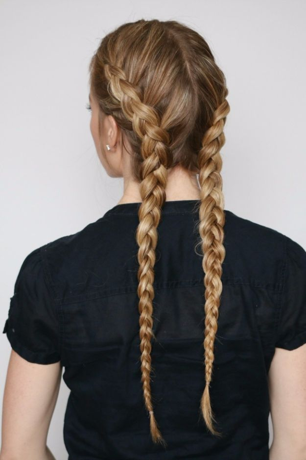 Easy Braids With Tutorials - Dutch Boxer Braids - Cute Braiding Tutorials for Teens, Girls and Women - Easy Step by Step Braid Ideas - Quick Hairstyles for School - Creative Braids for Teenagers - Tutorial and Instructions for Hair Braiding http://diyprojectsforteens.com/easy-braids-tutorials