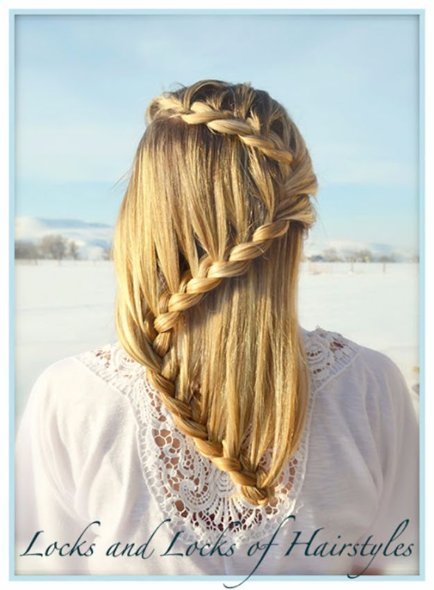 Easy Braids With Tutorials - Laced S - Braid - Cute Braiding Tutorials for Teens, Girls and Women - Easy Step by Step Braid Ideas - Quick Hairstyles for School - Creative Braids for Teenagers - Tutorial and Instructions for Hair Braiding http://diyprojectsforteens.com/easy-braids-tutorials