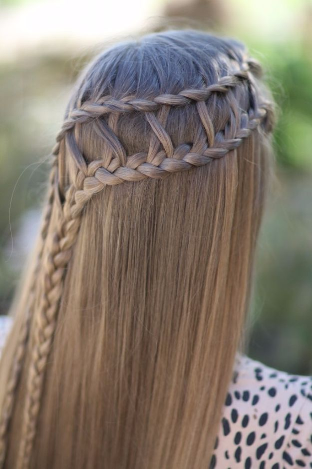 Easy Braids With Tutorials - Lattice Braid Combo - Cute Braiding Tutorials for Teens, Girls and Women - Easy Step by Step Braid Ideas - Quick Hairstyles for School - Creative Braids for Teenagers - Tutorial and Instructions for Hair Braiding http://diyprojectsforteens.com/easy-braids-tutorials