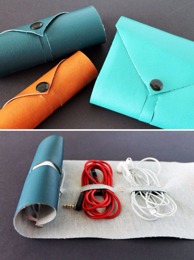 DIY School Supplies - Leather Cord Roll - Easy Crafts and Do It Yourself Ideas for Back To School - Pencils, Notebooks, Backpacks and Fun Gear for Going Back To Class - Creative DIY Projects for Cheap School Supplies - Cute Crafts for Teens and Kids #backtoschool #teencrafts #kidscrafts #teen #diyideas #crafts