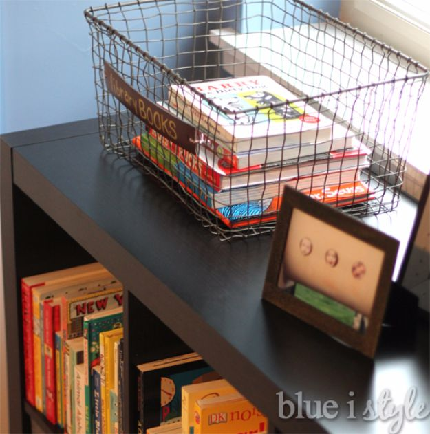 DIY School Supplies - Library Book Basket - Easy Crafts and Do It Yourself Ideas for Back To School - Pencils, Notebooks, Backpacks and Fun Gear for Going Back To Class - Creative DIY Projects for Cheap School Supplies - Cute Crafts for Teens and Kids http://diyprojectsforteens.com/diy-back-to-school-supplies