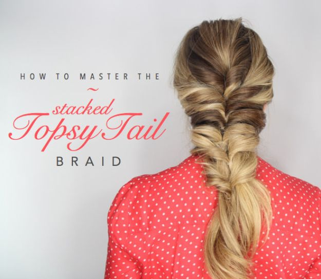 Easy Braids With Tutorials - Topsy Tail Braid - Cute Braiding Tutorials for Teens, Girls and Women - Easy Step by Step Braid Ideas - Quick Hairstyles for School - Creative Braids for Teenagers - Tutorial and Instructions for Hair Braiding http://diyprojectsforteens.com/easy-braids-tutorials