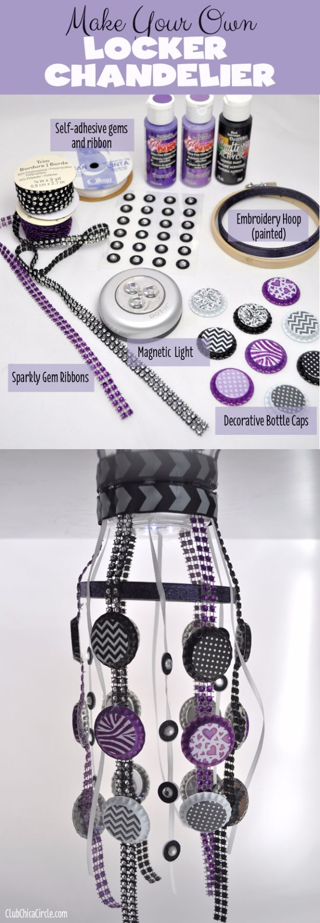 DIY School Supplies - Tween Locker Chandelier - Easy Crafts and Do It Yourself Ideas for Back To School - Pencils, Notebooks, Backpacks and Fun Gear for Going Back To Class - Creative DIY Projects for Cheap School Supplies - Cute Crafts for Teens and Kids http://diyprojectsforteens.com/diy-back-to-school-supplies