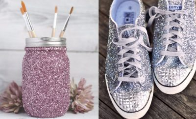 DIY Ideas WIth Glitter - Easy Crafts and Projects for Decoration, Gifts, and Bedroom Decor - How To Make Ombre, Mod Podge and Glitter Mason Jar Gift Ideas For Teens - Easy Clothes and Makeup Crafts For Teenagers http://diyprojectsforteens.com/glitter-crafts-ideas