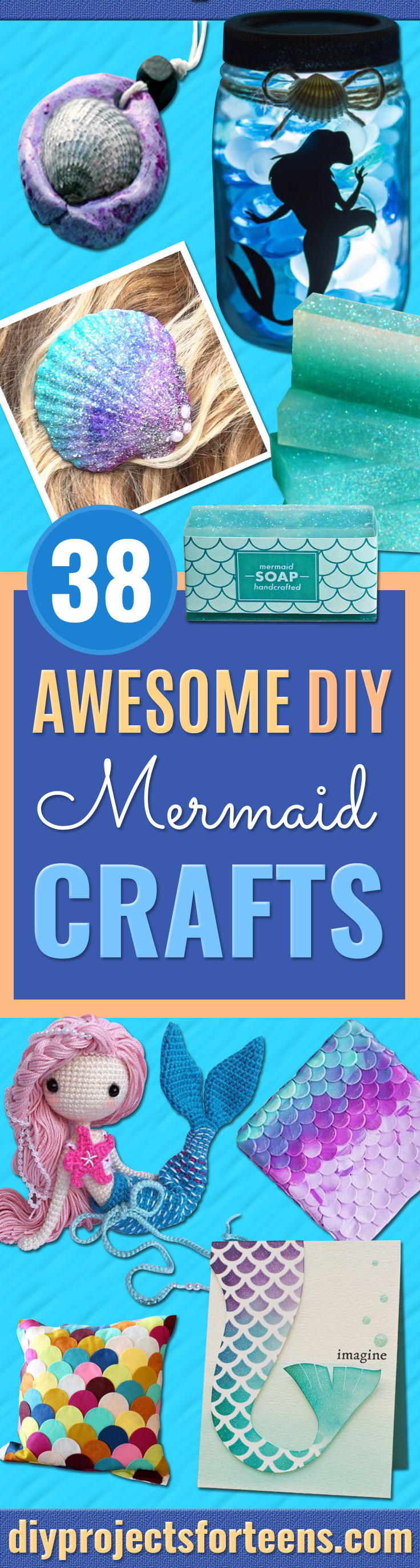 DIY Mermaid Crafts - 30 Minute Mermaid Skirt - How To Make Room Decorations, Art Projects, Jewelry, and Makeup For Kids, Teens and Teenagers - Mermaid Costume Tutorials - Fun Clothes, Pillow Projects, Mermaid Tail Tutorial http://diyprojectsforteens.com/diy-mermaid-crafts