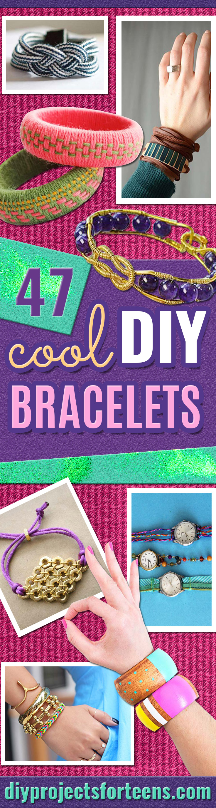 DIY Bracelets - Cool Jewelry Making Tutorials for Making Bracelets at Home - Handmade Bracelet Crafts and Easy DIY Gift for Teens, Girls and Women - With String, Wire, Leather, Beaded, Bangle, Braided, Boho, Modern and Friendship - Cheap and Quick Homemade Jewelry Ideas