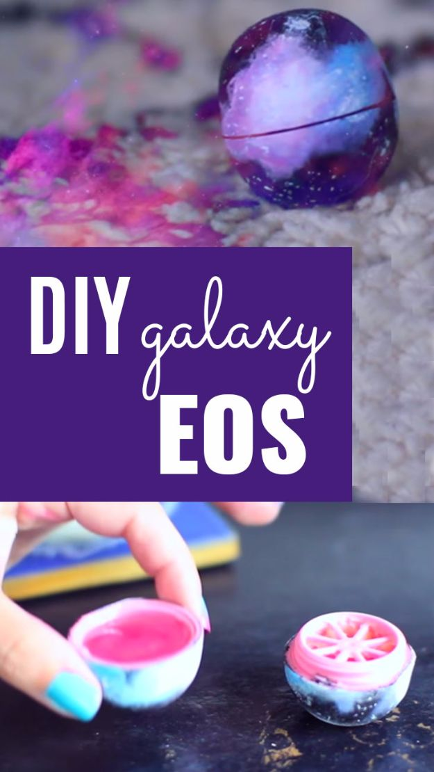 Galaxy DIY Crafts - DIY Galaxy EOS - Easy Room Decor, Cool Clothes, Fun Fabric Ideas and Painting Projects - Food, Cookies and Cupcake Recipes - Nebula Galaxy In A Jar - Art for Your Bedroom - Shirt, Backpack, Soap, Decorations for Teens, Kids and Adults http://diyprojectsforteens.com/galaxy-crafts