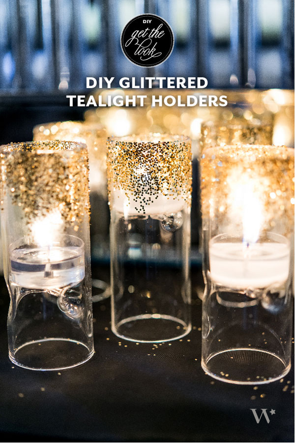 DIY Glittered Tea Light Holders