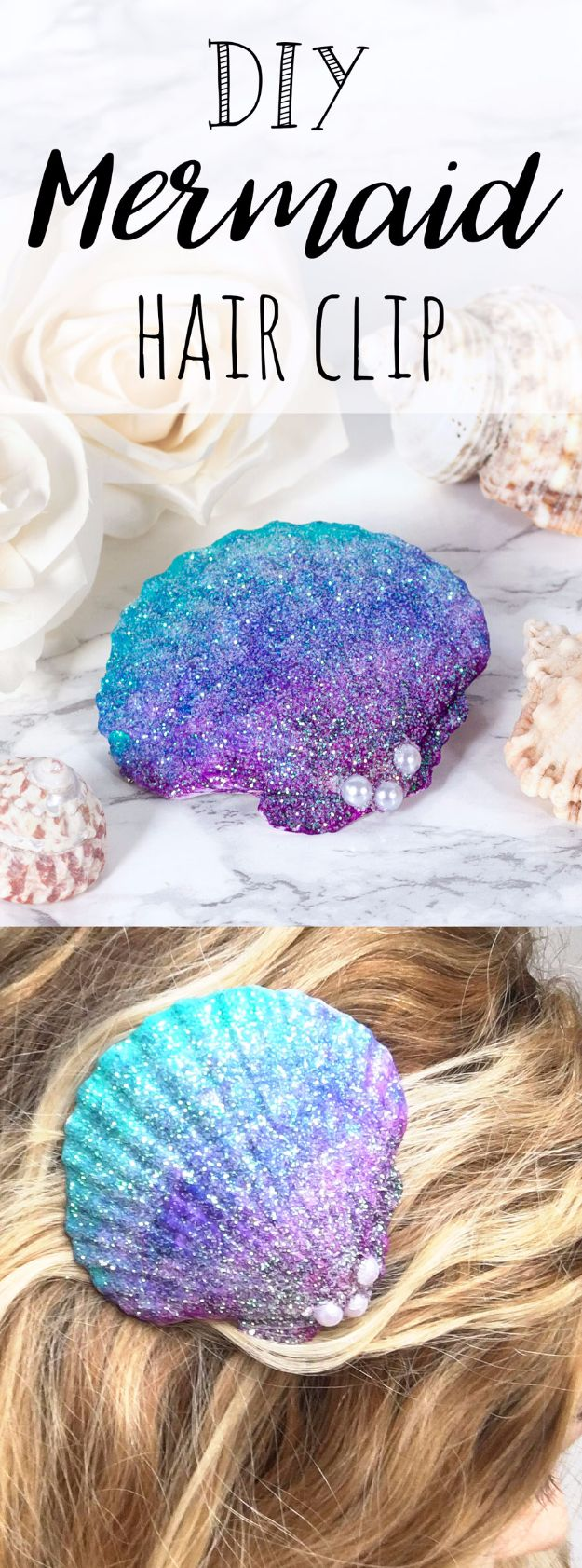 DIY Mermaid Crafts - DIY Mermaid Hair Clip - How To Make Room Decorations, Art Projects, Jewelry, and Makeup For Kids, Teens and Teenagers - Mermaid Costume Tutorials - Fun Clothes, Pillow Projects, Mermaid Tail Tutorial http://diyprojectsforteens.com/diy-mermaid-crafts