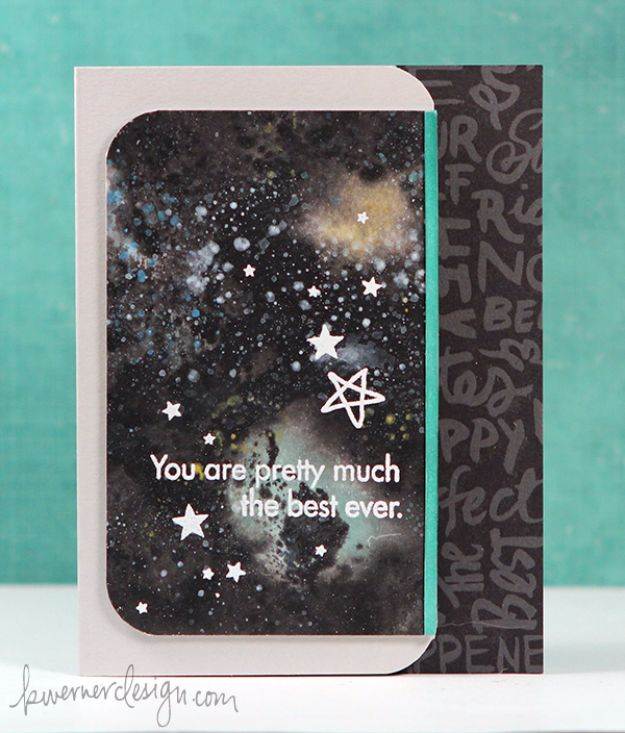 Galaxy DIY Crafts - Easy Galaxy Card - Easy Room Decor, Cool Clothes, Fun Fabric Ideas and Painting Projects - Food, Cookies and Cupcake Recipes - Nebula Galaxy In A Jar - Art for Your Bedroom - Shirt, Backpack, Soap, Decorations for Teens, Kids and Adults http://diyprojectsforteens.com/galaxy-crafts