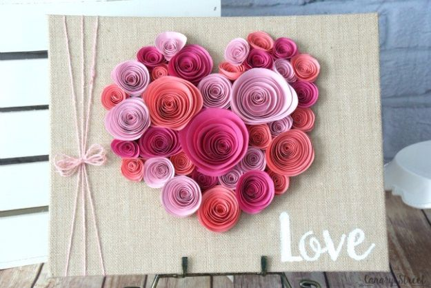 DIY Paper Flowers For Your Room - Easy Spiral Paper Flower Heart - How To Make A Paper Flower - Large Wedding Backdrop for Wall Decor - Easy Tissue Paper Flower Tutorial for Kids - Giant Projects for Photo Backdrops - Daisy, Roses, Bouquets, Centerpieces - Cricut Template and Step by Step Tutorial http://diyjoy.com/diy-paper-flowers