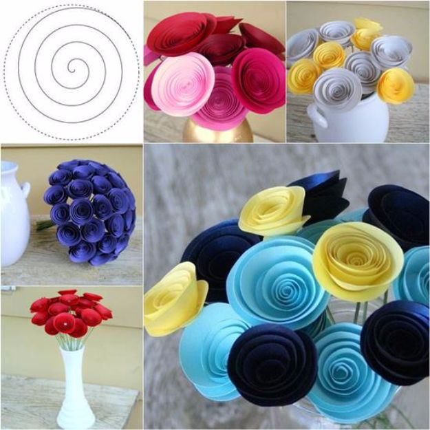 34 diy paper flowers for your room diy paper flowers for your room easy swirly paper flower how to make a mightylinksfo