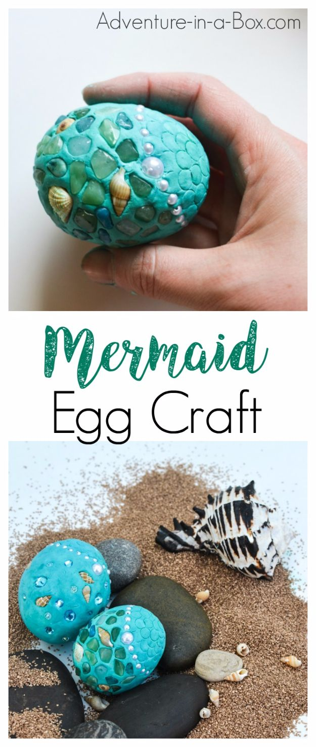 DIY Mermaid Crafts - Fantasy Mermaid Eggs - How To Make Room Decorations, Art Projects, Jewelry, and Makeup For Kids, Teens and Teenagers - Mermaid Costume Tutorials - Fun Clothes, Pillow Projects, Mermaid Tail Tutorial http://diyprojectsforteens.com/diy-mermaid-crafts