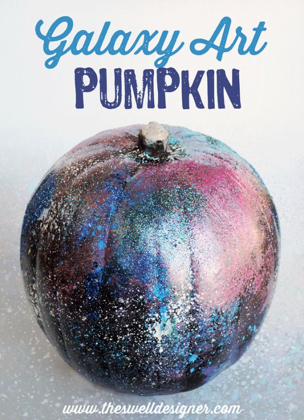 Galaxy DIY Crafts - Galaxy Art Pumpkin DIY - Easy Room Decor, Cool Clothes, Fun Fabric Ideas and Painting Projects - Food, Cookies and Cupcake Recipes - Nebula Galaxy In A Jar - Art for Your Bedroom - Shirt, Backpack, Soap, Decorations for Teens, Kids and Adults http://diyprojectsforteens.com/galaxy-crafts