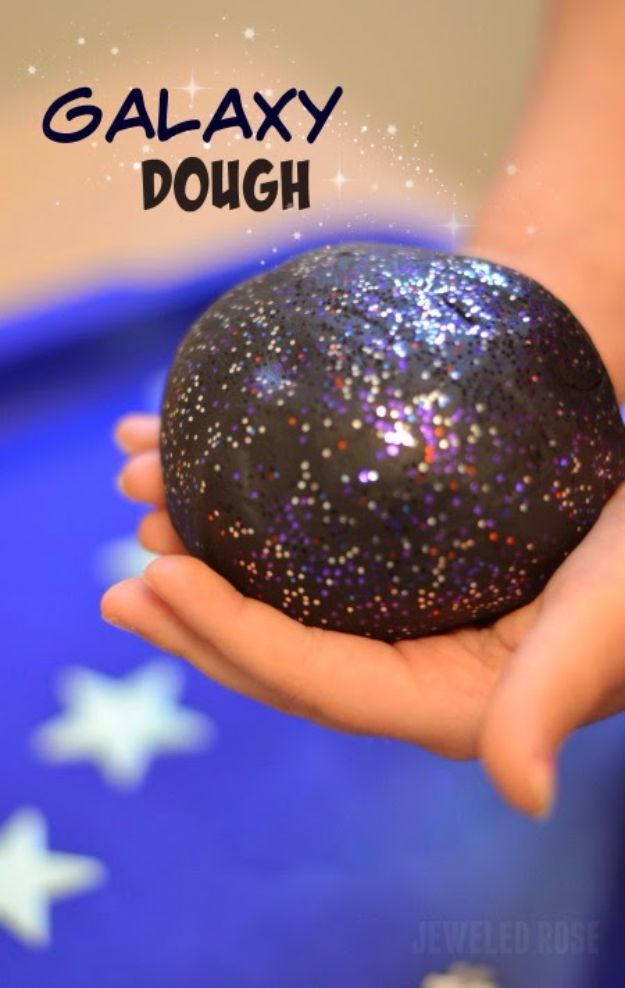 Galaxy DIY Crafts - Galaxy Dough - Easy Room Decor, Cool Clothes, Fun Fabric Ideas and Painting Projects - Food, Cookies and Cupcake Recipes - Nebula Galaxy In A Jar - Art for Your Bedroom - Shirt, Backpack, Soap, Decorations for Teens, Kids and Adults