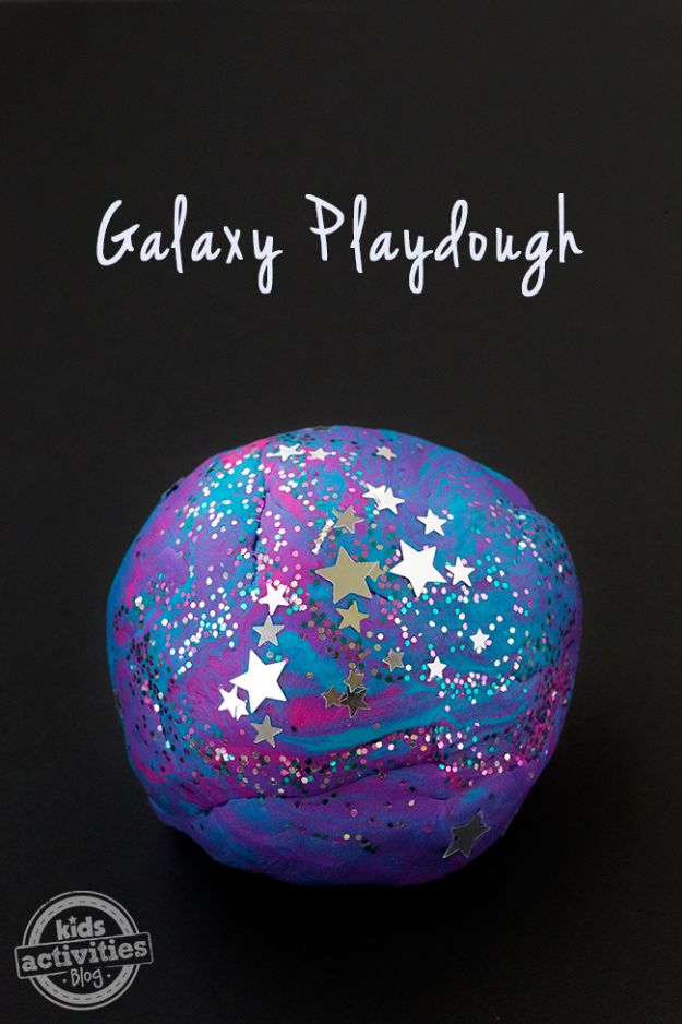 Galaxy DIY Crafts - Galaxy Playdough - Easy Room Decor, Cool Clothes, Fun Fabric Ideas and Painting Projects - Food, Cookies and Cupcake Recipes - Nebula Galaxy In A Jar - Art for Your Bedroom - Shirt, Backpack, Soap, Decorations for Teens, Kids and Adults http://diyprojectsforteens.com/galaxy-crafts