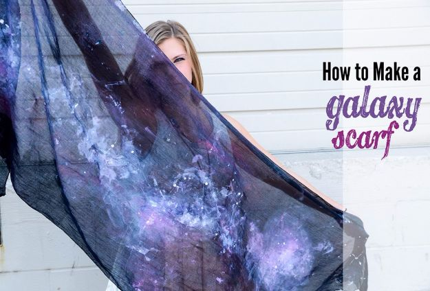 Galaxy DIY Crafts - Galaxy Scarf - Easy Room Decor, Cool Clothes, Fun Fabric Ideas and Painting Projects - Food, Cookies and Cupcake Recipes - Nebula Galaxy In A Jar - Art for Your Bedroom - Shirt, Backpack, Soap, Decorations for Teens, Kids and Adults