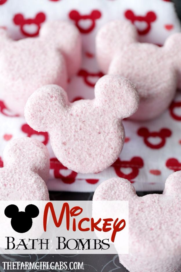 Cool DIY Bath Bombs to Make At Home - Mickey Bath Bombs - Recipes and Tutorial for How To Make A Bath Bomb - Best Bathbomb Ideas - Fun DIY Projects for Women, Teens, and Girls | DIY Bath Bombs Recipe and Tutorials | Make Cheap Gifts Like Lush Bath Bombs http://diyprojectsforteens.com/best-diy-bath-bombs