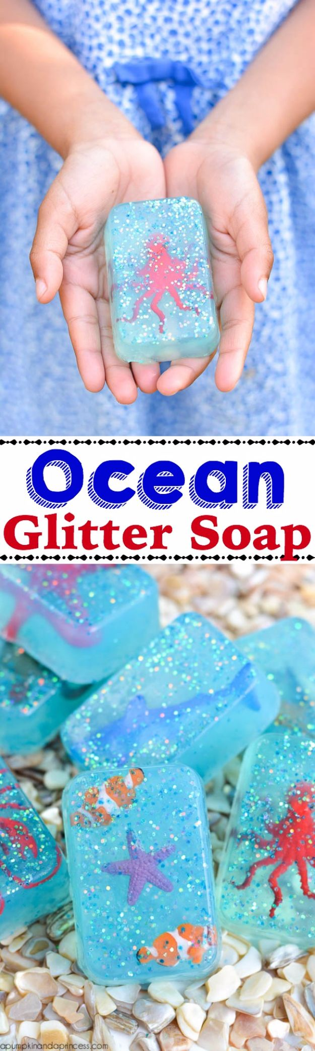DIY Ideas WIth Glitter - Ocean Glitter Soap - Easy Crafts and Projects for Decoration, Gifts, and Bedroom Decor - How To Make Ombre, Mod Podge and Glitter Mason Jar Gift Ideas For Teens - Easy Clothes and Makeup Crafts For Teenagers #diyideas #glitter #crafts
