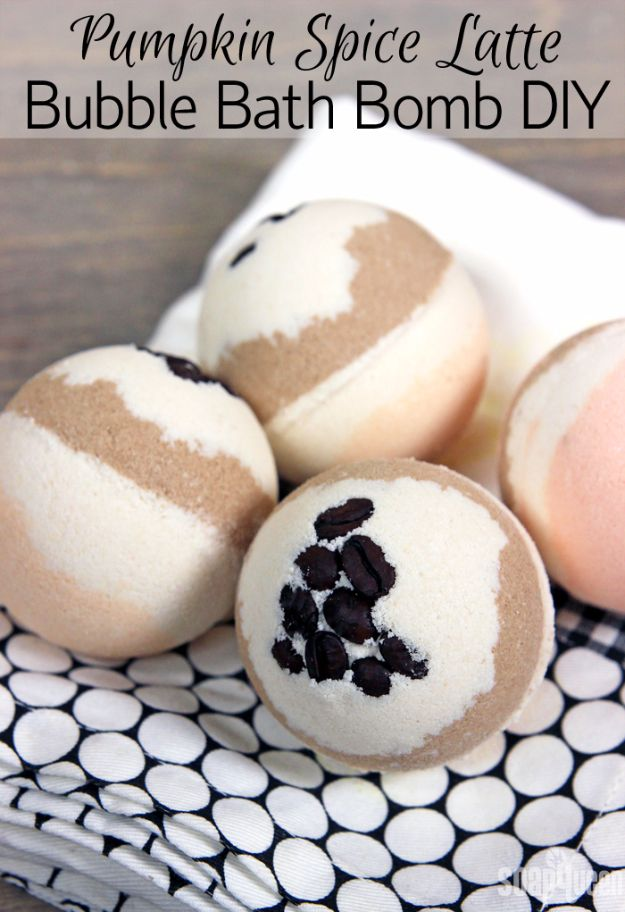 Cool DIY Bath Bombs to Make At Home - Pumpkin Spice Latte Bubble Bath Bomb DIY - Recipes and Tutorial for How To Make A Bath Bomb - Best Bathbomb Ideas - Fun DIY Projects for Women, Teens, and Girls | DIY Bath Bombs Recipe and Tutorials | Make Cheap Gifts Like Lush Bath Bombs http://diyprojectsforteens.com/best-diy-bath-bombs