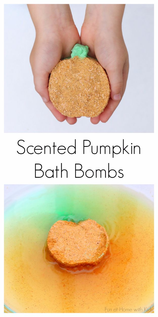 Cool DIY Bath Bombs to Make At Home - Scented Pumpkin Bath Bombs - Recipes and Tutorial for How To Make A Bath Bomb - Best Bathbomb Ideas - Fun DIY Projects for Women, Teens, and Girls | DIY Bath Bombs Recipe and Tutorials | Make Cheap Gifts Like Lush Bath Bombs http://diyprojectsforteens.com/best-diy-bath-bombs