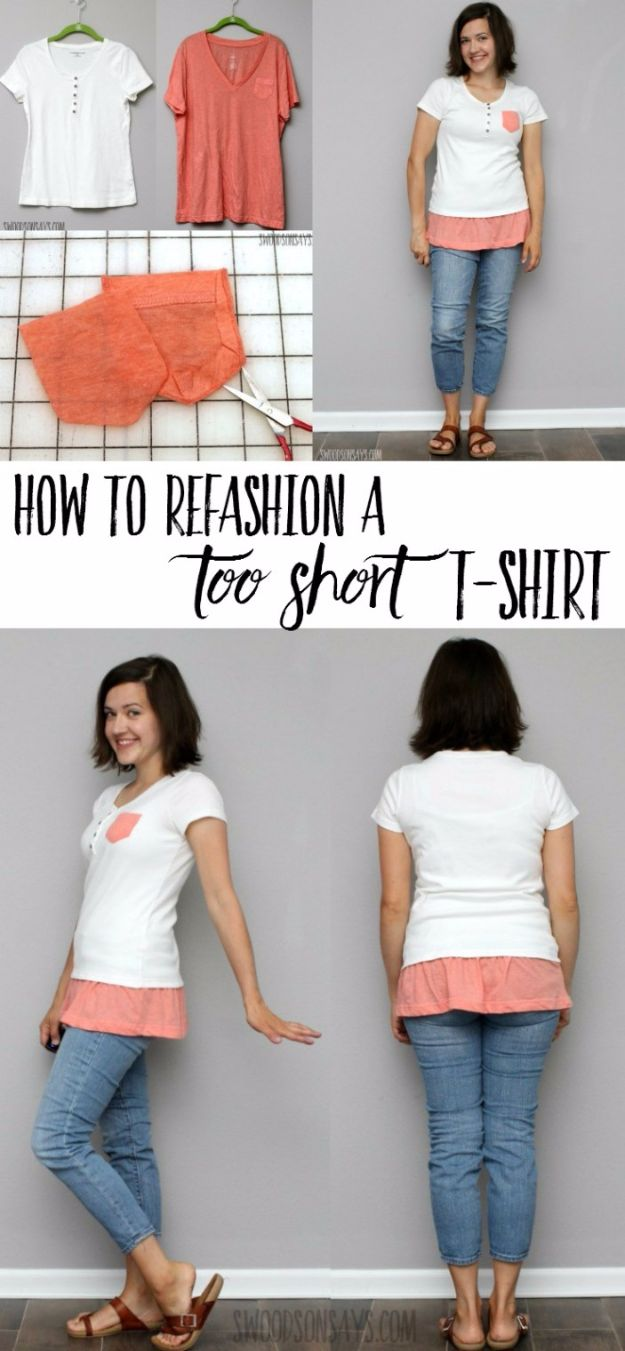 T-Shirt Makeovers - Simple T-Shirt Refashion - Fun Upcycle Ideas for Tees - How To Make Simple Awesome Summer Style Projects - Cute Sleeve and Neckline Ideas - Cheap and Easy Ways To Upcycle Tshirts for Fun Clothes and Fashion - Quick Projects for Teens and Teenagers on A Budget http://diyprojectsforteens.com/t-shirt-makeovers
