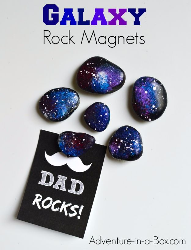 Galaxy DIY Crafts - Space Rocks Fridge Magnets - Easy Room Decor, Cool Clothes, Fun Fabric Ideas and Painting Projects - Food, Cookies and Cupcake Recipes - Nebula Galaxy In A Jar - Art for Your Bedroom - Shirt, Backpack, Soap, Decorations for Teens, Kids and Adults http://diyprojectsforteens.com/galaxy-crafts