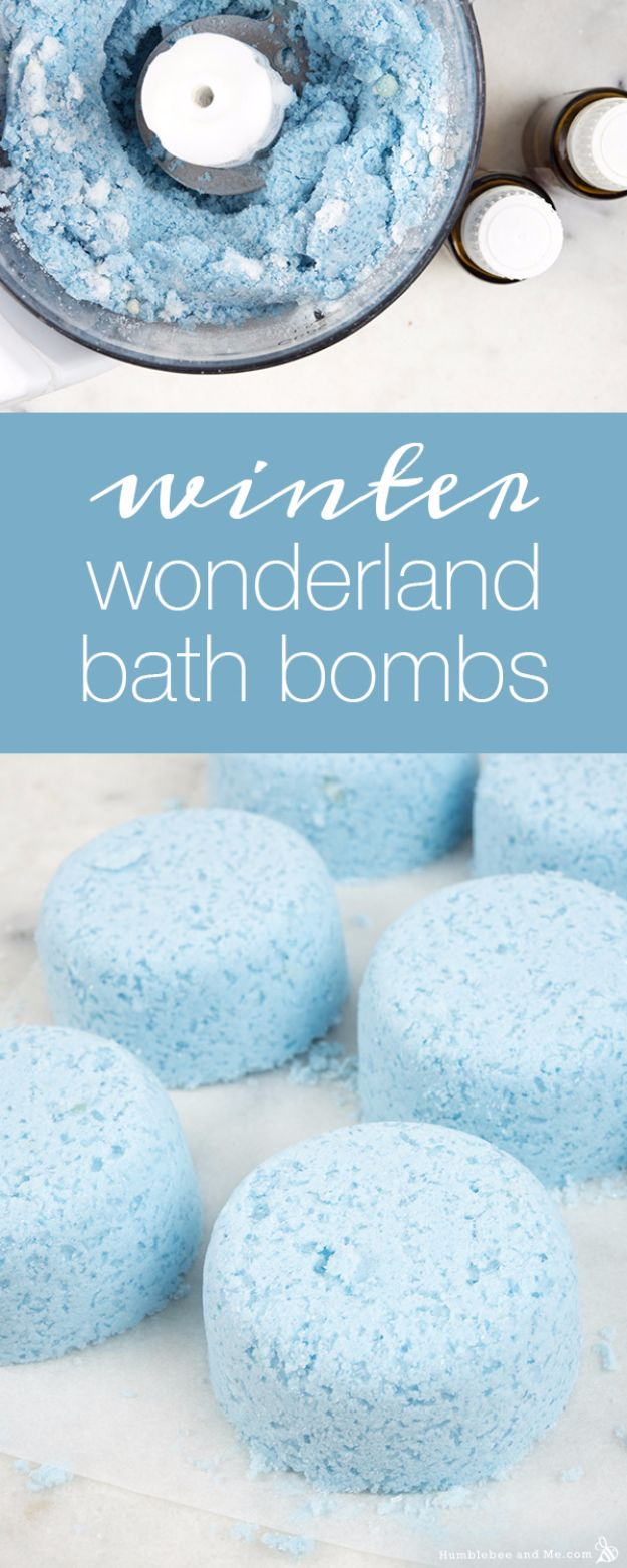 Cool DIY Bath Bombs to Make At Home - Winter Wonderland Bath Bombs - Recipes and Tutorial for How To Make A Bath Bomb - Best Bathbomb Ideas - Fun DIY Projects for Women, Teens, and Girls | DIY Bath Bombs Recipe and Tutorials | Make Cheap Gifts Like Lush Bath Bombs #bathbombs #teencrafts #diyideas