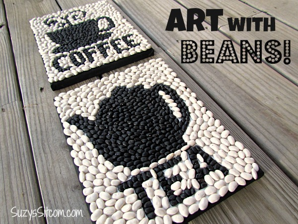 Cheap Crafts for Teens - Fun Wall Art With Beans - Inexpensive DIY Projects for Teenagers and Tweens - Cute Room Decor, School Supplies, Accessories and Clothing You Can Make On A Budget - Fun Dollar Store Crafts - Cool DIY Gift Ideas for Christmas, Birthdays, BFF gifts and more - Step by Step Tutorials and Instructions #cheapcrafts #dollarstorecrafts #teencrafts #dollartreecrafts