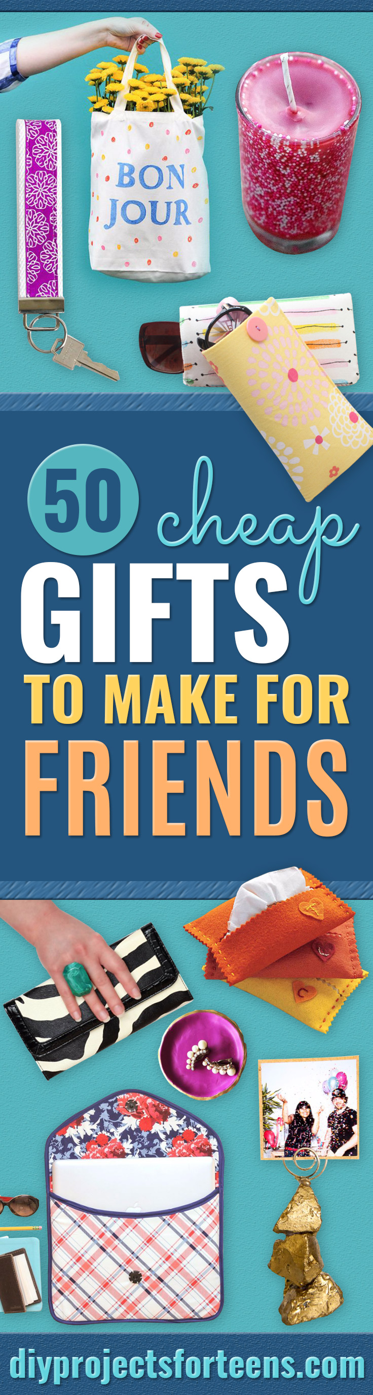 Cheap DIY Gifts and Inexpensive Homemade Christmas Gift Ideas for People on A Budget - To Make These Cool Presents Instead of Buying for the Holidays - Easy and Low Cost Gifts fTo Make For Friends and Neighbors - Quick Dollar Store Crafts and Projects for Xmas Gift Giving Parties - Step by Step Tutorials and Instructions http://diyjoy.com/cheap-gifts-to-make-for-friends