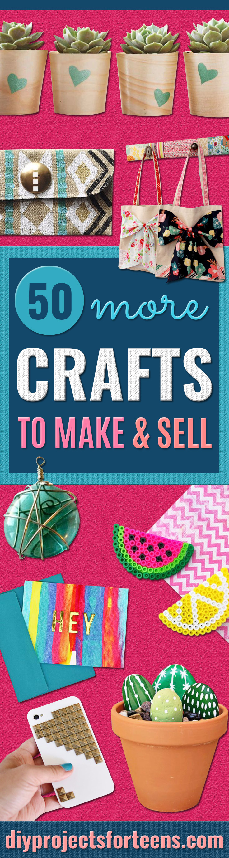 Crafts for Teens to Make and Sell - Cheap and Easy DIY Ideas To Make For Extra Money - Best Things to Sell On Etsy, Dollar Store Craft Ideas, Quick Projects for Teenagers To Make Spending Cash - DIY Gifts, Wall Art, School Supplies, Room Decor, Jewelry, Fashion, Hair Accessories, Bracelets, Magnets #teencrafts #craftstosell #etsyideass
