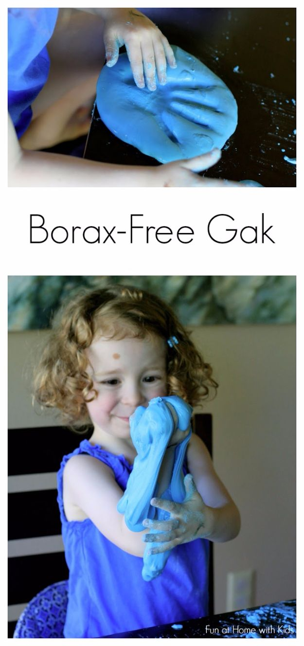 Borax Free Slime Recipes - Borax Free Gak - Safe Slimes To Make Without Glue - How To Make Fluffy Slime With Shaving Cream - Easy 3 Ingredients Glitter Slime, Clear, Galaxy, Best DIY Slime Tutorials With Step by Step Instructions http://diyprojectsforteens.com/borax-free-slime
