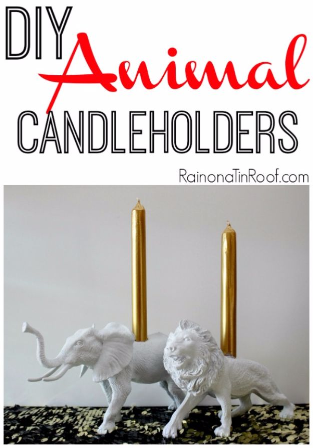 Crafts for Teens to Make and Sell - DIY Animal Candle Holder - Cheap and Easy DIY Ideas To Make For Extra Money - Best Things to Sell On Etsy, Dollar Store Craft Ideas, Quick Projects for Teenagers To Make Spending Cash - DIY Gifts, Wall Art, School Supplies, Room Decor, Jewelry, Fashion, Hair Accessories, Bracelets, Magnets #teencrafts #craftstosell #etsyideass