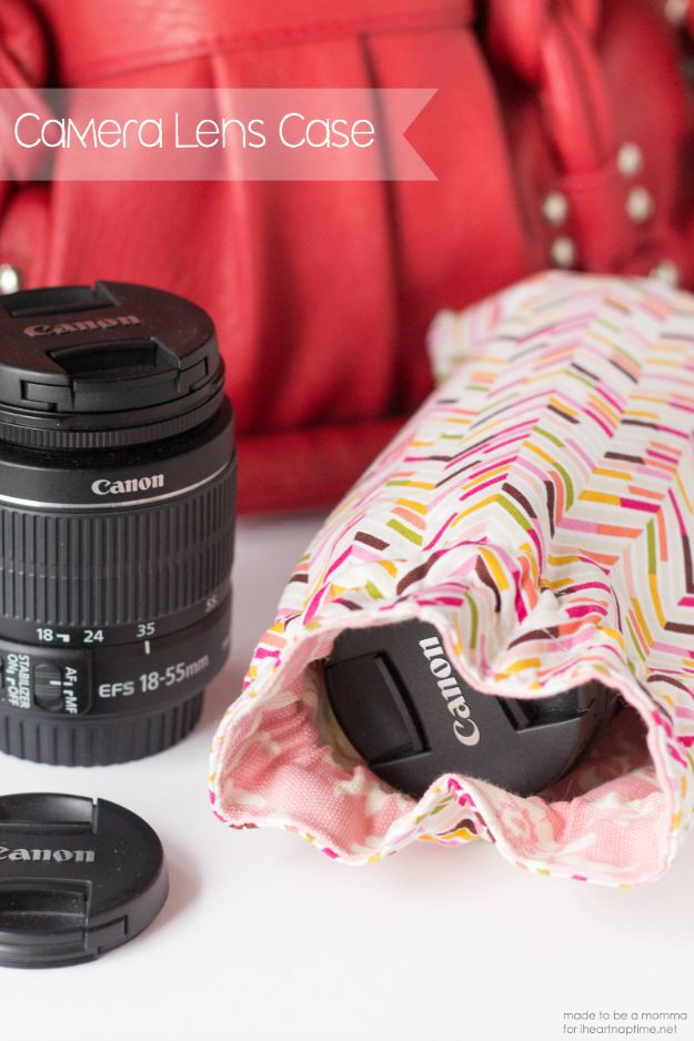 Cheap DIY Gifts and Inexpensive Homemade Christmas Gift Ideas for People on A Budget - DIY Camera Lens Case - To Make These Cool Presents Instead of Buying for the Holidays - Easy and Low Cost Gifts fTo Make For Friends and Neighbors - Quick Dollar Store Crafts and Projects for Xmas Gift Giving Parties - Step by Step Tutorials and Instructions #diygifts #teencrafts #diyideas #crafts #christmasgifts #cheapgifts