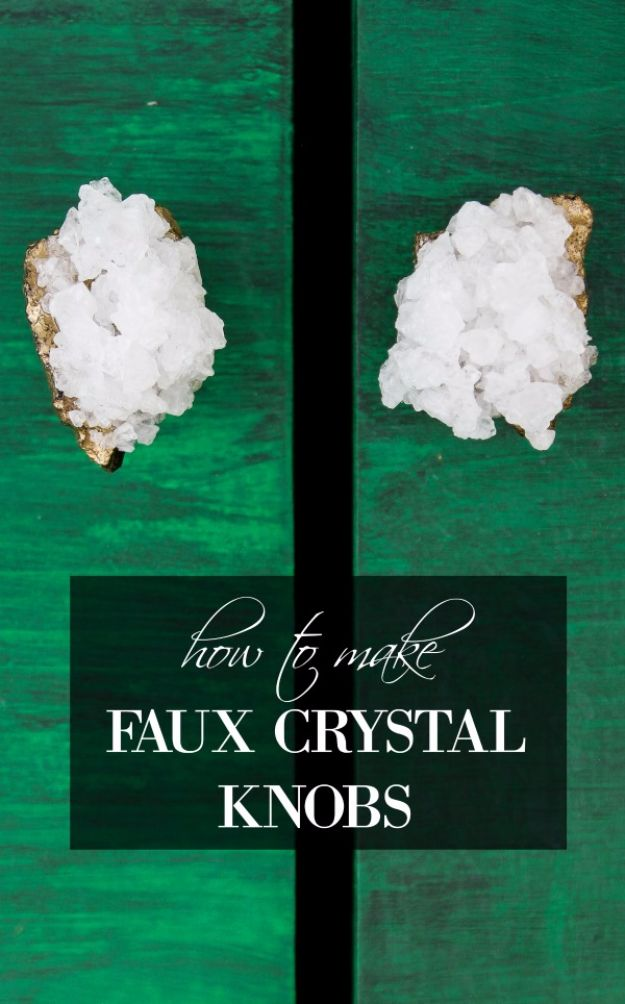 Crafts for Teens to Make and Sell - DIY Faux Crystal Knobs - Cheap and Easy DIY Ideas To Make For Extra Money - Best Things to Sell On Etsy, Dollar Store Craft Ideas, Quick Projects for Teenagers To Make Spending Cash - DIY Gifts, Wall Art, School Supplies, Room Decor, Jewelry, Fashion, Hair Accessories, Bracelets, Magnets http://diyprojectsforteens.com/crafts-to-sell-teens