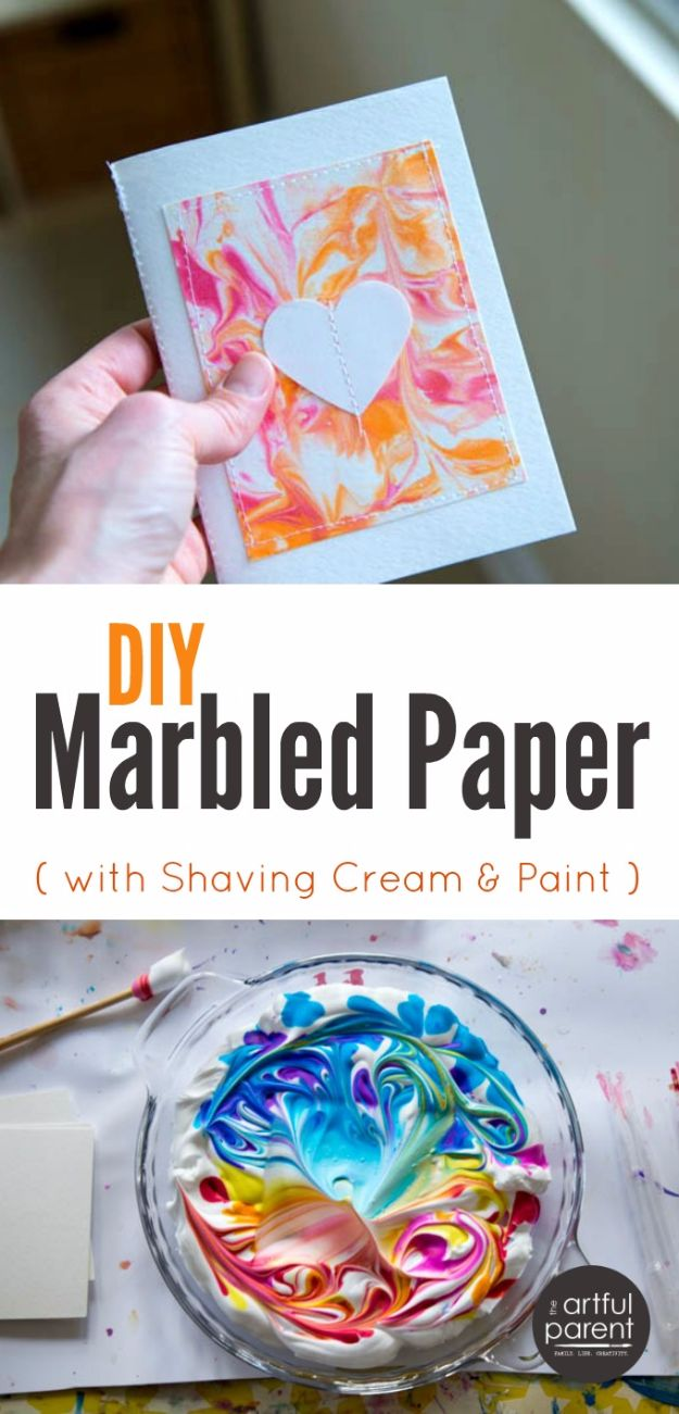 Crafts for Teens to Make and Sell - DIY Marbled Paper - Cheap and Easy DIY Ideas To Make For Extra Money - Best Things to Sell On Etsy, Dollar Store Craft Ideas, Quick Projects for Teenagers To Make Spending Cash - DIY Gifts, Wall Art, School Supplies, Room Decor, Jewelry, Fashion, Hair Accessories, Bracelets, Magnets #teencrafts #craftstosell #etsyideass