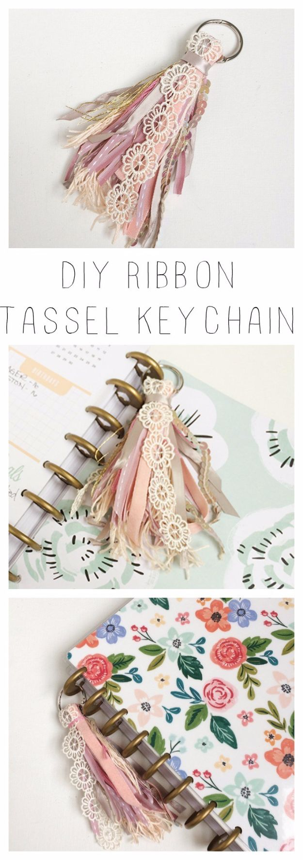 Crafts for Teens to Make and Sell - DIY Ribbon Tassel Key Chain - Cheap and Easy DIY Ideas To Make For Extra Money - Best Things to Sell On Etsy, Dollar Store Craft Ideas, Quick Projects for Teenagers To Make Spending Cash - DIY Gifts, Wall Art, School Supplies, Room Decor, Jewelry, Fashion, Hair Accessories, Bracelets, Magnets #teencrafts #craftstosell #etsyideass