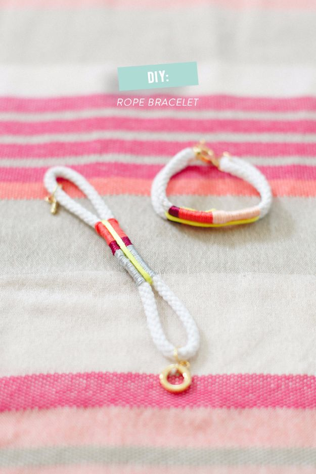 Cheap DIY Gifts and Inexpensive Homemade Christmas Gift Ideas for People on A Budget - DIY Rope Bracelet - To Make These Cool Presents Instead of Buying for the Holidays - Easy and Low Cost Gifts fTo Make For Friends and Neighbors - Quick Dollar Store Crafts and Projects for Xmas Gift Giving Parties - Step by Step Tutorials and Instructions http://diyjoy.com/cheap-gifts-to-make-for-friends