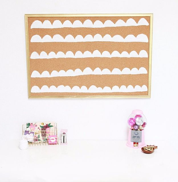 Cheap DIY Gifts and Inexpensive Homemade Christmas Gift Ideas for People on A Budget - DIY Scalloped Cork Board - To Make These Cool Presents Instead of Buying for the Holidays - Easy and Low Cost Gifts fTo Make For Friends and Neighbors - Quick Dollar Store Crafts and Projects for Xmas Gift Giving Parties - Step by Step Tutorials and Instructions #diygifts #teencrafts #diyideas #crafts #christmasgifts #cheapgifts