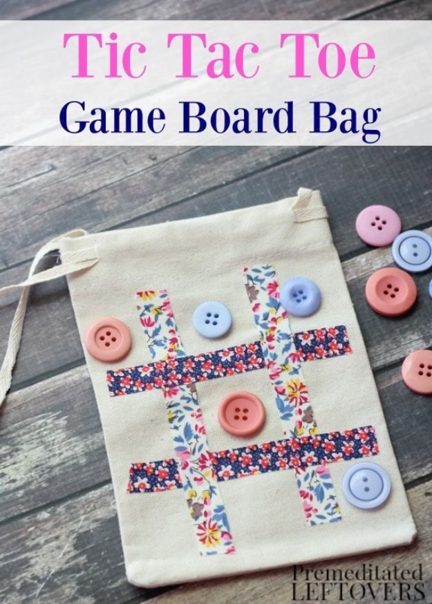 Crafts for Teens to Make and Sell - DIY Tic Tac Toe Game Board Bag - Cheap and Easy DIY Ideas To Make For Extra Money - Best Things to Sell On Etsy, Dollar Store Craft Ideas, Quick Projects for Teenagers To Make Spending Cash - DIY Gifts, Wall Art, School Supplies, Room Decor, Jewelry, Fashion, Hair Accessories, Bracelets, Magnets #teencrafts #craftstosell #etsyideass