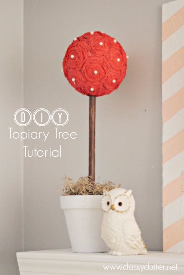Cheap DIY Valentine's Day Gift Ideas - DIY Topiary Trees - Make These Easy and Inexpensive Crafts and Valentine Projects - Cute Dollar Store Ideas, Tutorials for Making Jars, Gift Boxes, Pink Red and Heart Shaped Decor - Creative Ways To Say I Love You to Your BFF, Boyfriend, Girlfriend, Husband, Wife and Kids http://diyprojectsforteens.com/cheap-diy-valentines-gifts