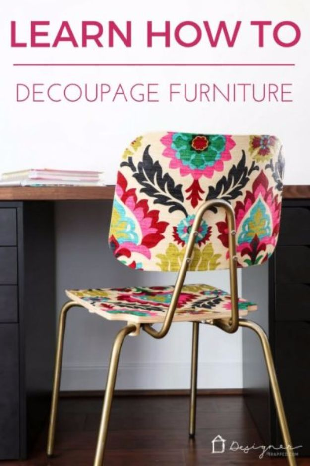 Mod Podge Crafts - Decoupaged Furniture - DIY Modge Podge Ideas On Wood, Glass, Canvases, Fabric, Paper and Mason Jars - How To Make Pictures, Home Decor, Easy Craft Ideas and DIY Wall Art for Beginners - Cute, Cheap Crafty Homemade Gifts for Christmas and Birthday Presents http://diyjoy.com/mod-podge-crafts