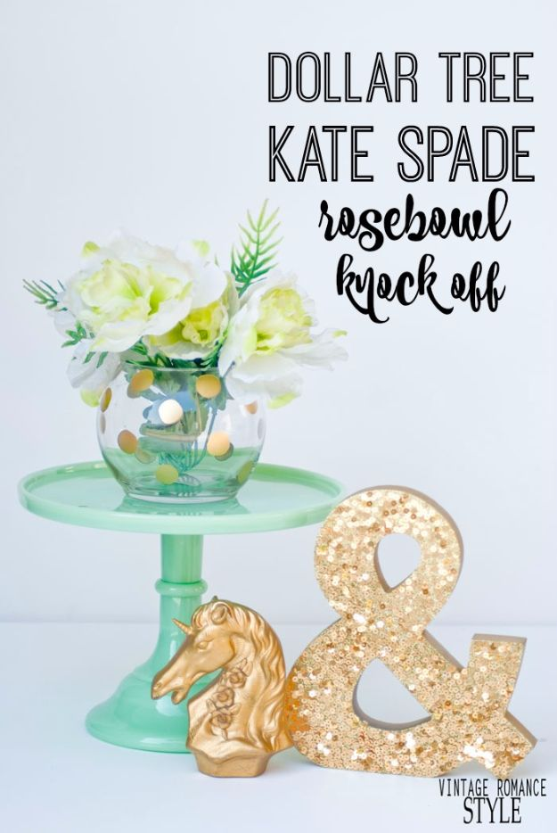 Crafts for Teens to Make and Sell - Dollar Tree Kate Spade Rose Bowl Knock-Off - Cheap and Easy DIY Ideas To Make For Extra Money - Best Things to Sell On Etsy, Dollar Store Craft Ideas, Quick Projects for Teenagers To Make Spending Cash - DIY Gifts, Wall Art, School Supplies, Room Decor, Jewelry, Fashion, Hair Accessories, Bracelets, Magnets http://diyprojectsforteens.com/crafts-to-sell-teens