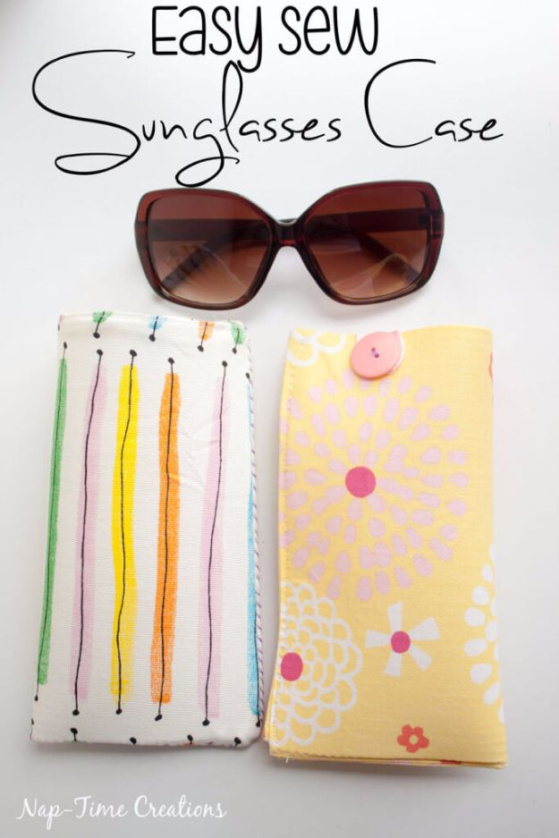 Cheap DIY Gifts and Inexpensive Homemade Christmas Gift Ideas for People on A Budget - Easy Sew Sun Glasses Case - To Make These Cool Presents Instead of Buying for the Holidays - Easy and Low Cost Gifts fTo Make For Friends and Neighbors - Quick Dollar Store Crafts and Projects for Xmas Gift Giving Parties - Step by Step Tutorials and Instructions http://diyjoy.com/cheap-gifts-to-make-for-friends