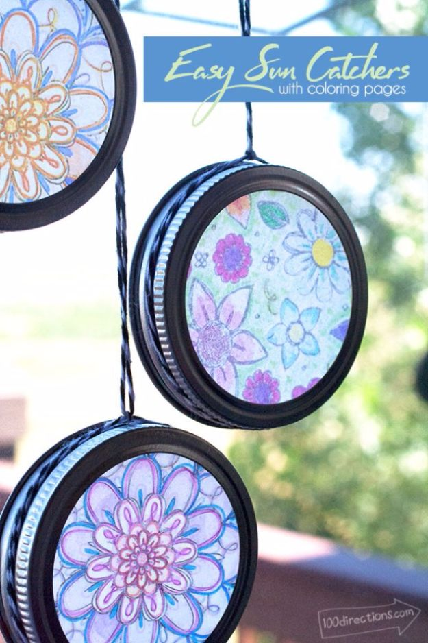 Crafts for Teens to Make and Sell - Easy Sun Catchers - Cheap and Easy DIY Ideas To Make For Extra Money - Best Things to Sell On Etsy, Dollar Store Craft Ideas, Quick Projects for Teenagers To Make Spending Cash - DIY Gifts, Wall Art, School Supplies, Room Decor, Jewelry, Fashion, Hair Accessories, Bracelets, Magnets #teencrafts #craftstosell #etsyideass